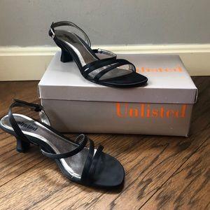 Unlisted Black Heels